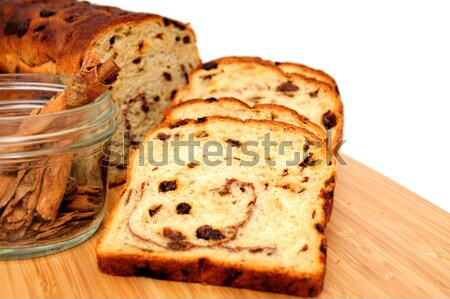 Raisin Bread And Cinnamon Sticks Stock photo © bendicks
