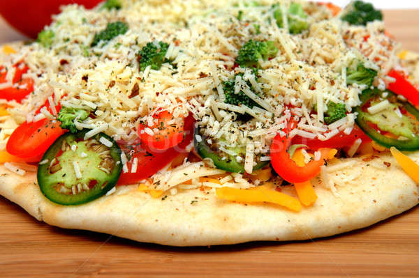 Uncooked Vegtable Pizza For One Stock photo © bendicks