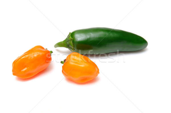 Habanero and Jalapeno Chilies Stock photo © bendicks