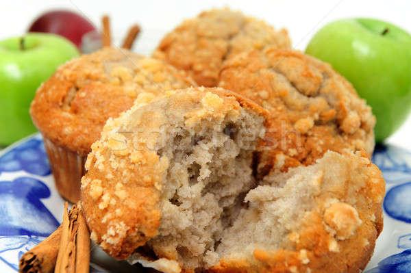 Foto stock: Manzana · especias · muffin · verde · manzanas