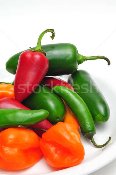 Hot Cihilis In A Bowl Stock photo © bendicks