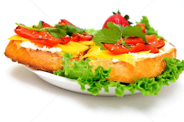 Queijo pimenta sanduíche torrado pão Foto stock © bendicks