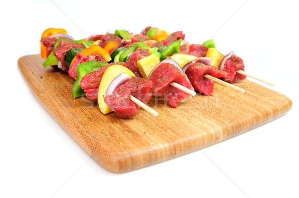 Bife legumes cebola laranja verde sino Foto stock © bendicks