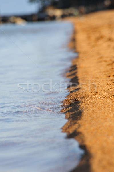 Arena agua apretado enfoque playa de arena Foto stock © bendicks