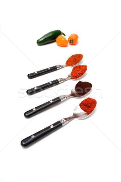 Chili Powder And Spoons Stock photo © bendicks