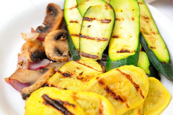 A la parrilla calabacín calabacín amarillo verano verde Foto stock © bendicks