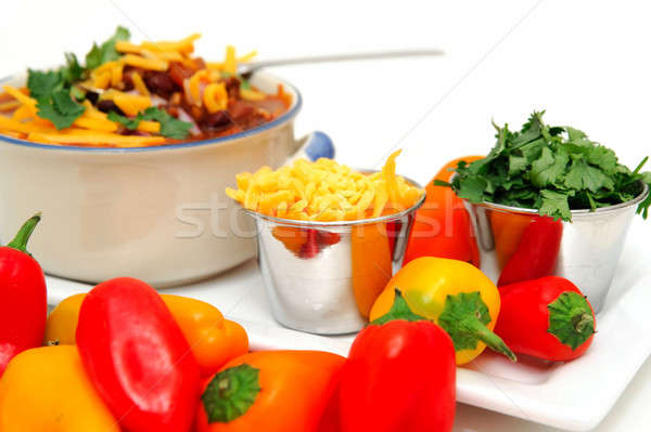 Chili Beans And Peppers Stock photo © bendicks