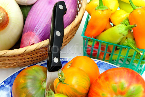 Heirloom Tomatoes And Vegetables Stock photo © bendicks