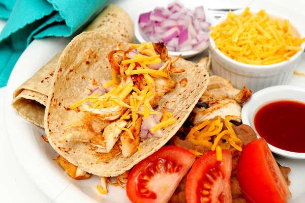 Spicy Chicken Tacos Stock photo © bendicks