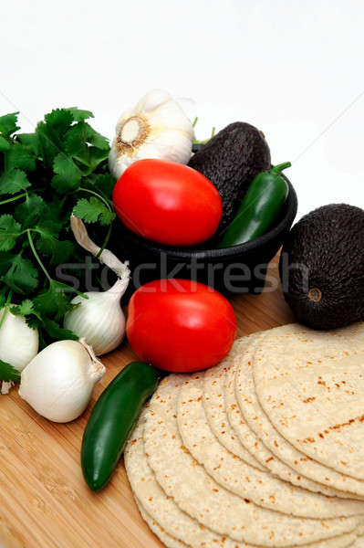 Tomatoes And Tortillas Stock photo © bendicks