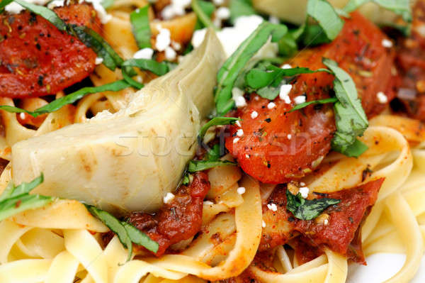 Domates fesleğen domates zeytinyağı Stok fotoğraf © bendicks