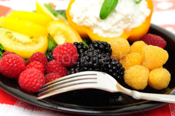 Low Calorie Berry Salad Stock photo © bendicks