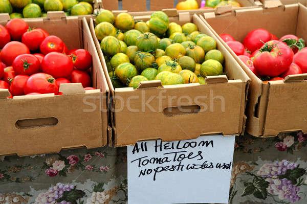 Boxed Heirloom Tomatoes Stock photo © bendicks