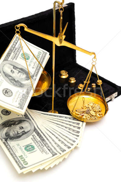 Raw Gold And Money Stock photo © bendicks
