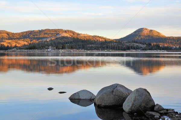 Montana lago manana California Nevada cielo Foto stock © bendicks