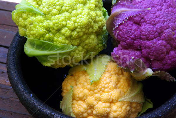 Colorato cavolfiore bella unico alimentare giardino Foto d'archivio © bendicks