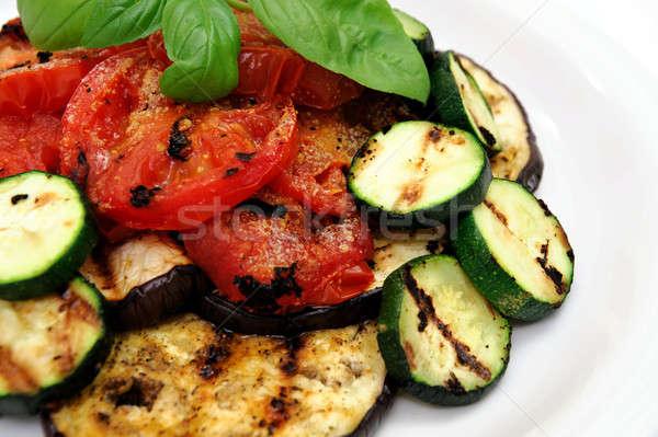 Grilled Eggplant And Veggies Stock photo © bendicks