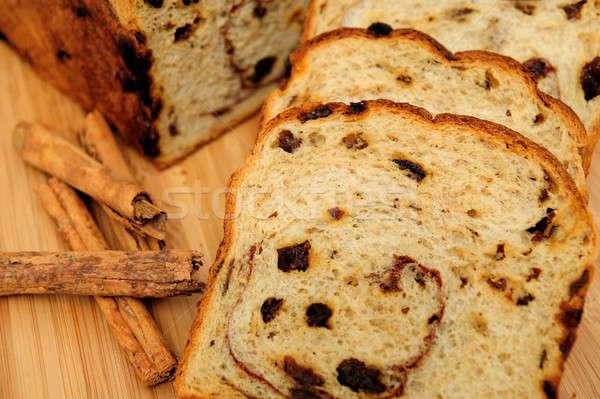 изюм хлеб Ломтики корицей из Сток-фото © bendicks