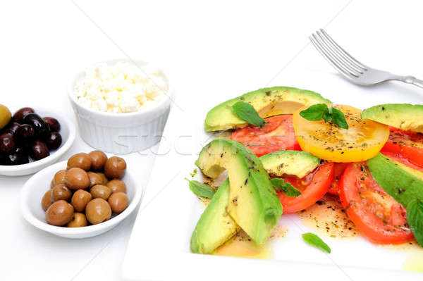 Avocado Salad And Olives Stock photo © bendicks