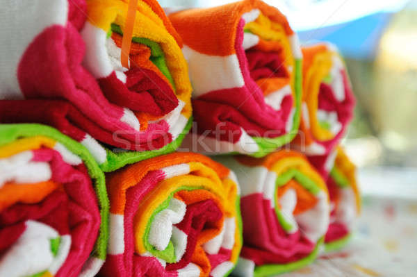 Rolled Up Beach Towels Stock photo © bendicks