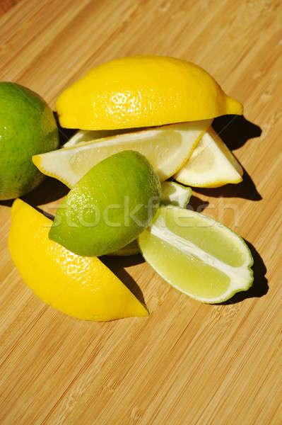 Lemon And Lime Wedges Stock photo © bendicks