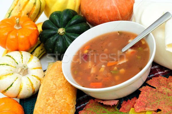 Fall Vegetables And Warm Soup Stock photo © bendicks