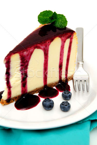 Cheesecake mirtillo salsa top fresche frutti di bosco Foto d'archivio © bendicks