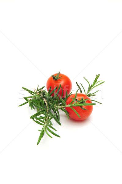 Tomates cereja dois luz saúde Foto stock © bendicks