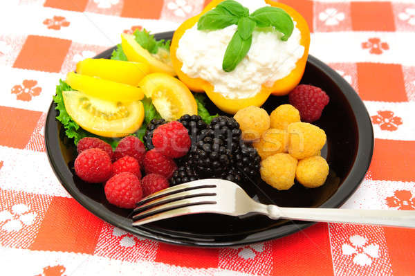 Fresh Berry And Cottage Cheese Salad Stock photo © bendicks