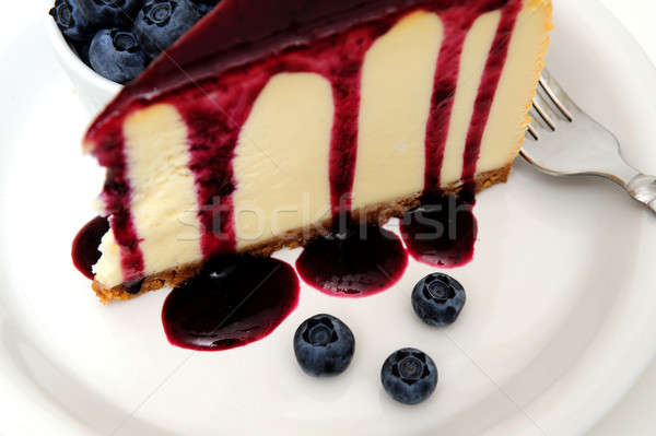 Cheesecake With Blueberry Sauce Stock photo © bendicks