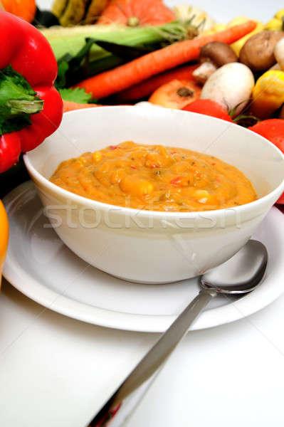 Fresh Veggies And Vegetable Soup Stock photo © bendicks