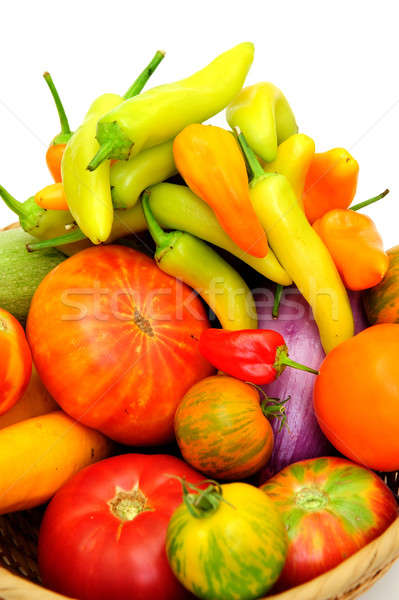 Hot Chilis And Tomatoes Stock photo © bendicks