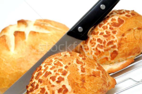 Pan pan dos holandés cuchillo Foto stock © bendicks