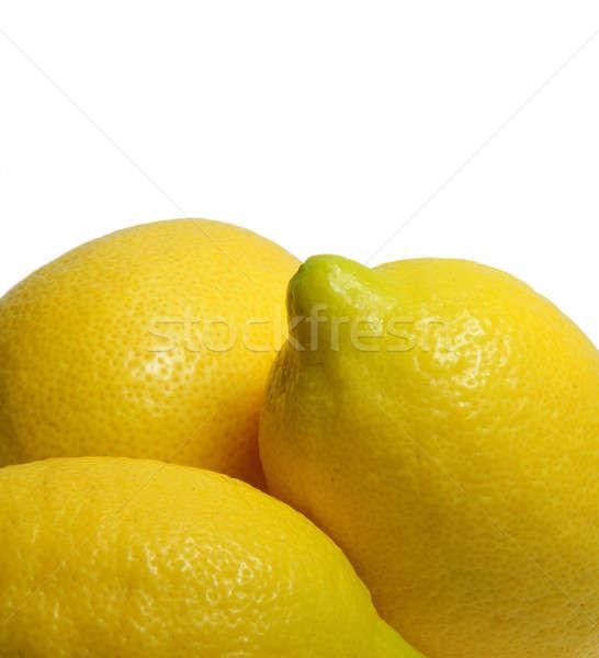 Amarelo limão múltiplo limões luz Foto stock © bendicks