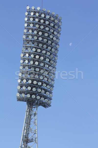 лампы стадион Blue Sky небе спорт аннотация Сток-фото © bendzhik