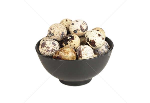 яйца чаши черно белые яйцо птица цвета Сток-фото © bendzhik