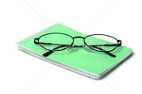 очки ноутбук белый фон медицина чтение Сток-фото © bendzhik