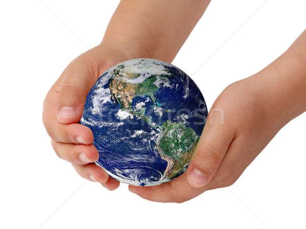 Gezegen top eller çocuklar elemanları görüntü Stok fotoğraf © bendzhik