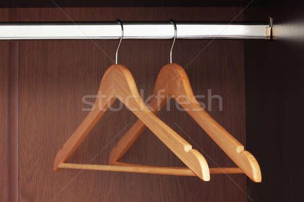 Ahşap asılı boş klozet soyut alışveriş Stok fotoğraf © bendzhik