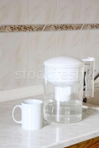 воды Кубок таблице очистки белый Сток-фото © bendzhik