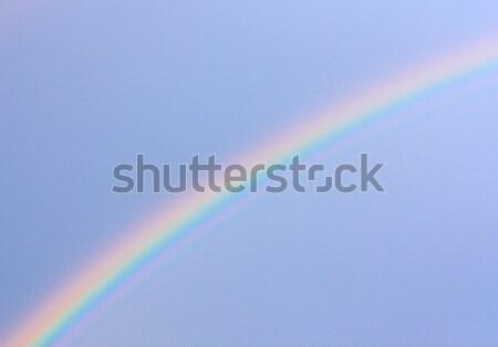Regenboog natuurlijke fenomeen foto hemel regen Stockfoto © bendzhik