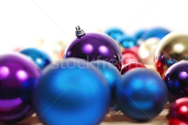 Noel renkli toplama yararlı mutlu Stok fotoğraf © bendzhik