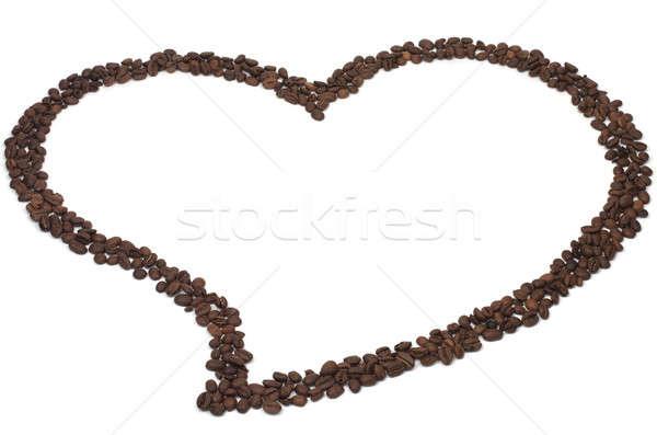 Café aromatique grains de café forme coeur amour Photo stock © bendzhik