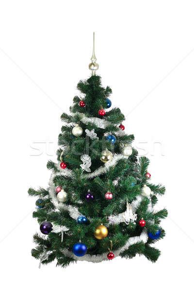 Arbre de noël décorations blanche arbre boîte vert Photo stock © bendzhik