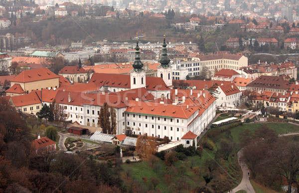 Ville vue vieille ville Prague République tchèque ciel Photo stock © bendzhik