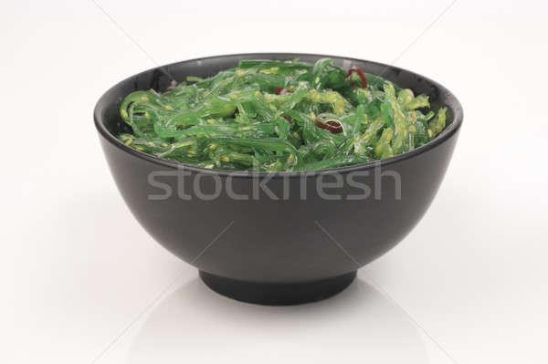Algues salade saladier noir lumière blanche Photo stock © bendzhik