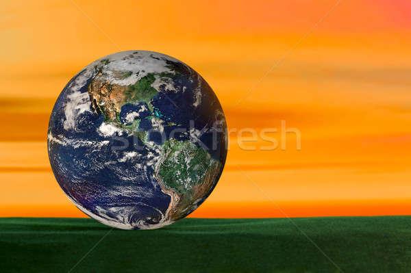 Foto stock: Planeta · abstrato · verde · veludo · mapa · natureza