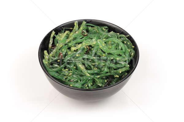 Wodorost Sałatka salaterki czarny świetle biały Zdjęcia stock © bendzhik