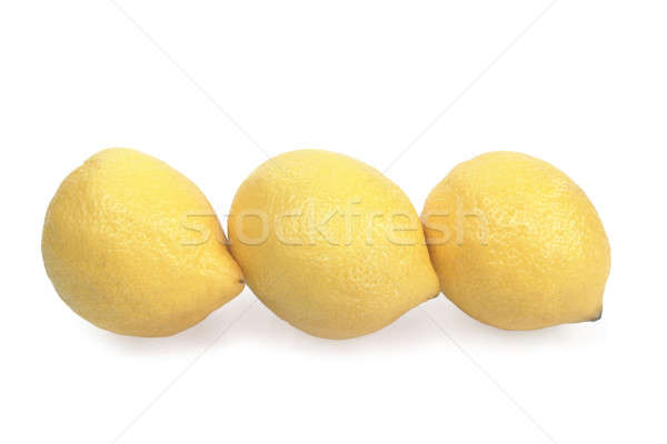 Citrons juteuse isolé blanche alimentaire Photo stock © bendzhik