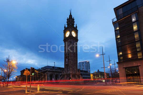 Albert Memorial Clock in Belfast Stock photo © benkrut